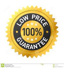 lowest price 100 low price guarantee sticker stock vector image 47071222