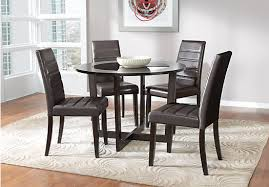 Espresso Dining Room Furniture Espresso 5 Pc Dining Set Round Contemporary