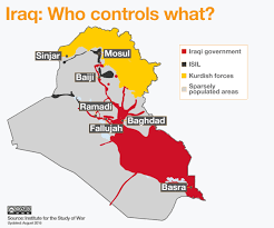 Syria War Map by Iraq War Map Who Controls What