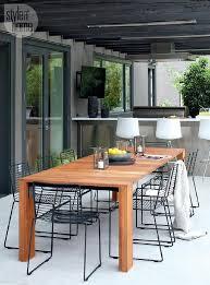 Black Metal Chairs Dining Teak Outdoor Dining Table With Black Metal Dining Chairs