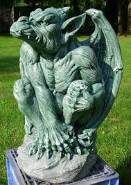 concrete mold of a large gargoyle 1 and fiberglass