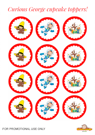 banana cupcakes inspired curious george