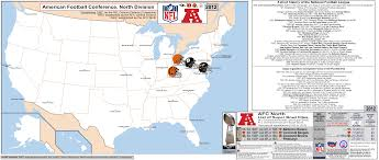 Baltimore Usa Map by Nfl Afc North U2013 Map With Short League History Side Bar U0026 Titles