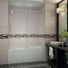 bathtub sliding glass doors frameless completely frameless hinged