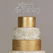 rhinestone cake happy anniversary rhinestone cake topper partyplanhq