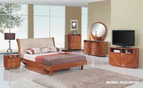 evelyn bedroom set in cherry finish by global