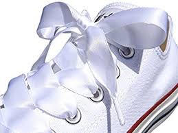 ribbon shoe laces white flat satin ribbon shoelaces shoe laces for kids