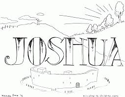 11 pics of joshua story coloring pages walls of jericho bible