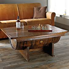 wine barrel coffee table plans
