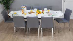 White Extending Dining Table And Chairs Great High Gloss Dining Table Sets Furniture Trading Company