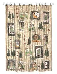 Cabin Shower Curtains Clearance Lodge Outhouse Shower Curtain Accessories Cabin Place