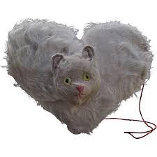 a very rare german child u0027s musical cat heart shaped 1920s