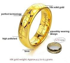 movie jewelry rings images Certified the precious ring of mordor pure 18k gold rings for man jpg