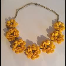 statement necklace with flower images Jewelry statement necklace yellow flower 26 poshmark jpg