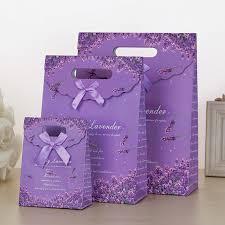 Birthday Favor Bags by Lavender Purple Gift Bag Portable Bag Birthday Favor