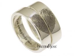 fingerprint wedding bands custom handmade fingerprint jewelry by brent jess