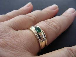 wedding rings size 11 s vintage emerald cabochon and ring size 11
