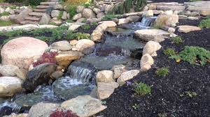 rochester home decor beautiful waterfall pond natural stone patio monroe county rochester