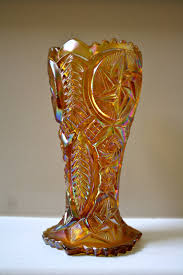 Vintage Orange Glass Vase Best 25 Cut Glass Vase Ideas On Pinterest Vases Crystal Vase