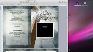 funeral program software inserting a photo into a funeral program template with apple iwork