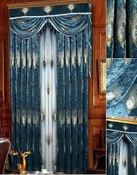 Blue Silk Curtains Peacock Color Curtains Peacock Color Drapes Full Size Of Curtain