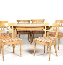 circa 1960s drexel fruitwood dining table and chair set ebth