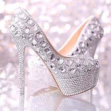 wedding shoes rhinestones gorgeous sparkly handmade rhinestones platform bridal wedding