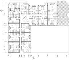 l shaped apartment floor plans movie shopping roof apartments by ofis arhitekti