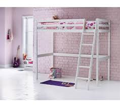 buy home kaycie wooden high sleeper single bed frame white at