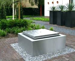 modern water feature modern water features modern water fountain with metal and stone