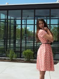 downeast dresses polka dot dress from downeast basics