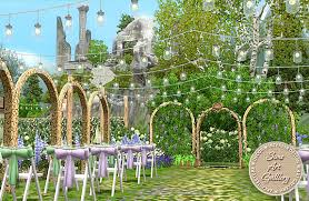 wedding arches in sims 3 celtic wedding park