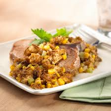 all bran baked pork chops with stuffing
