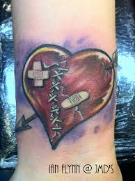 broken heart tattoo meaning heart tattoos meanings love heart