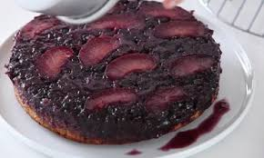 video plum blueberry upside down cake martha stewart