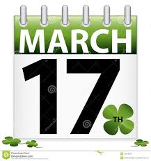 calendar clipart st patricks day pencil and in color calendar