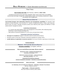 cio sample resume chief information officer resume it resume