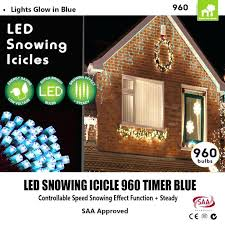 snowing icicle outdoor lights exterior house lights timer outdoor led snowing icicle blue light