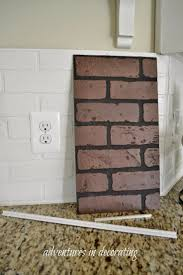 Tiling A Kitchen Backsplash Do It Yourself Best 20 Faux Brick Backsplash Ideas On Pinterest White Brick