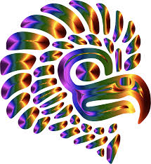 best hd prismatic stylized mexican eagle silhouette vector clipart