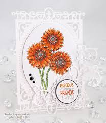gerbera daisies digital stamp set power poppy by marcella hawley