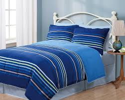 Blue Striped Comforter Set Bedding Sets Twin Blue Decors Ideas