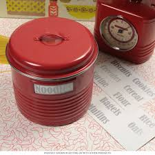 Tin Kitchen Canisters Kitchen Canister Red Large Vintage Style Kitchen Jars