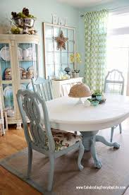 Colored Dining Room Chairs Chalk Paint Dining Room Table