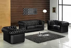 canapé 2 et 3 places cuir d coratif canap 2 3 places chesterfield noir 123 canape cuir 1