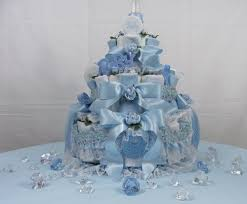 3 tier blue baby bottle diaper cakes pdc