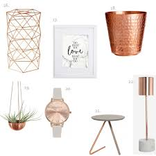 Rose Home Decor by Decor Edit How To Use Marble U0026 Rose Gold In Your Home U2013 Honestly