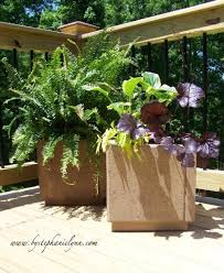 how to make patio paver planters bystephanielynn