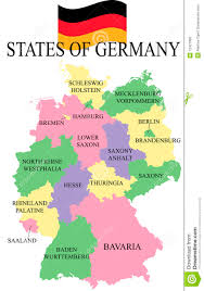 germania map germania map with states stock vector image of 12421993