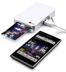 for android mobile lg pocket photo pd221 silver mini mobile printer for